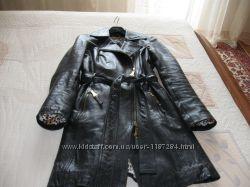 Кожаное пальто Societa  Italy