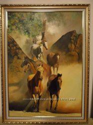 Картина Табун лошадей
