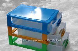 Мини-комод, Этажерка для игрушек, для вещей 4 яруса K-PLAST