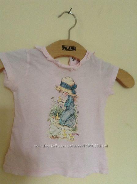 Продам очень красивую нежную футболочку Benetton baby.