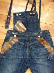 Необычный женский джинсовый комбинезон Mf Denim