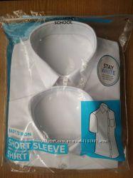 Рубашка школьная с коротким рукавом George. Код 180902