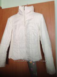 белая демисезонная короткая курточка ExtraMe р. L