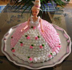 Торт Барби для девочек.