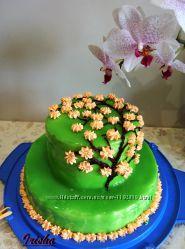 Торт с зеркальной глазурью на день рожденье