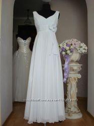 Свадебное платье в греческом стиле Ампир. Подойдет для беременных.