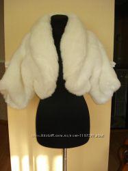 Свадебная шуба из искусственного меха полушубок с рукавом 3&924.