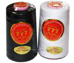 Нитки швейные 40 черные-белые  - 777, джинсовые пуговицы-болт