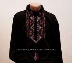 Мужская рубашка-вышиванка Геометрия. Индивидуальный пошив и вышивка