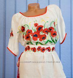 Вышиванка Маковое поле Индивидуальный пошив и вышивка
