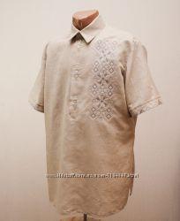 Рубашка-вышиванка Оттенки серого