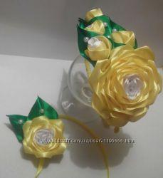 Обруч роза с бутонами