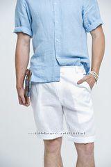 Мужская рубашка льняная и шорты. Городская и пляжная льняная рубашка