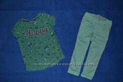 Зеленые штаны на 9-12 мес