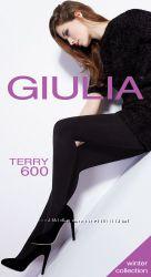 Махровые теплые колготки из хлопка 600 den ТМ Giulia