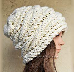 Эксклюзивные, стильные вязаные шапки ручной работы