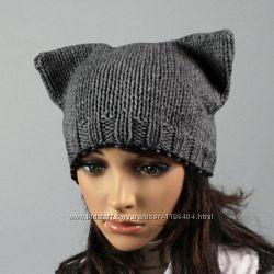 Стильные шапки ручной вязки. Цвет на выбор