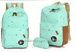 Милый рюкзак для девушек  пенал вподарок