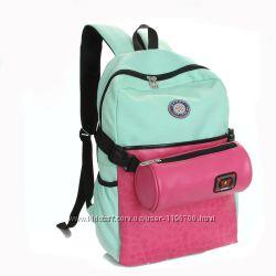 Яркие рюкзаки для студентов сумка-пенал в комплекте