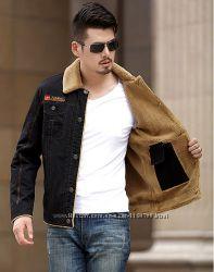 Куртка мужская джинсовая на меху демисезоневозима