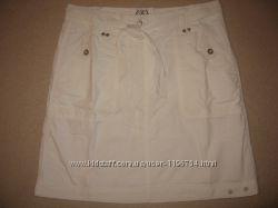 Новая белая хлопковая юбка TCM Tchibo, р. 38 евро, 46 укр.