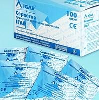 Спиртовые стерильные салфетки 100 штуп. Хлоргексидин.