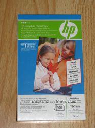 Фотобумага HP, полуглянец, А6