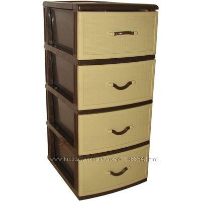 Комод, тумба, шкафчик для вещей на 4 ящика, органайзер для вещей.