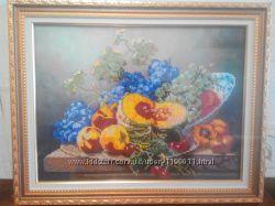 Картина бисером натюрморт с тыквой