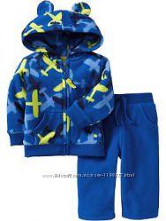 Теплые флисовые костюмы на малышей