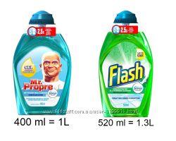 концентрат для мойки пола Mr. Propre и Flash