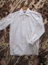 Сорочечка для хлопчика біла з запонками