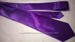 Галстук фиолетовый атласный