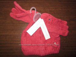 Комплект для девочки шапка и перчатки