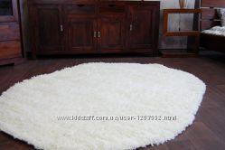 новый ковер Шагги Lux Белый, ковры с высоким ворсом Shaggy.