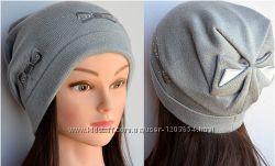 Женские шапки с бантом сзади