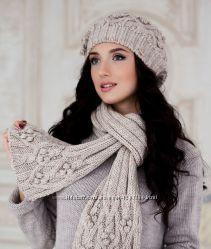 Коплект шапка и шарф Braxton Брекстон Шишки разные цвета
