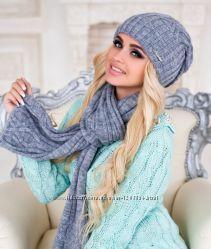 Коплект шапка и шарф Braxton Аврора разные цвета