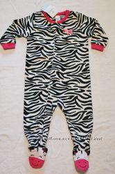 Новые флисовые  пижамы,  слипы,  человечки  картерс  Carters  для  девочек.