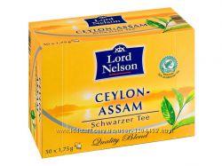 Lord Nelson Чай чорний Assam 50пакетів -Німеччина