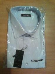 распродажа классические мужские рубашки  DERGI с коротким рукавом