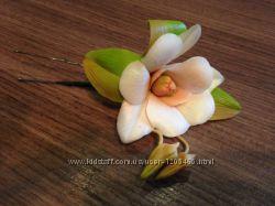 шпилька-украшение для волос орхидея