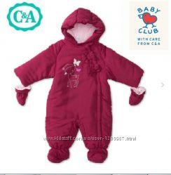 Тёплый комбинезон С&A Baby club 62 см