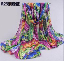 Яркий шифоновый шарф