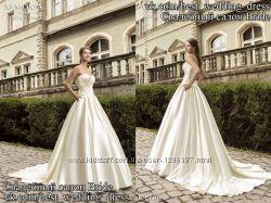 Нова Пишна атласна весільна сукня 2015 Софія весільний салон Bride