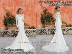 Нове Кружевне свадібне плаття 2015 Русалка Лімбо весільний салон Bride