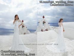 Нова Мереживна весільна сукня 2015 Пряма Ніколь весільний салон Bride