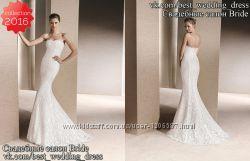 Нова Мереживна весільна сукня 2016 Русалка Rois весільний салон Bride