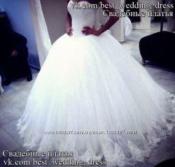 Нова Пишна мереживна весільна сукня 2015 А-сілует Kate весільний салон Bri