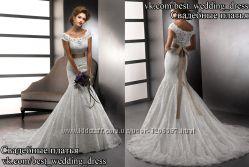 Нова Кружевна свадібна сукня 2015 Русалка AmaraRose весільний салон Bride